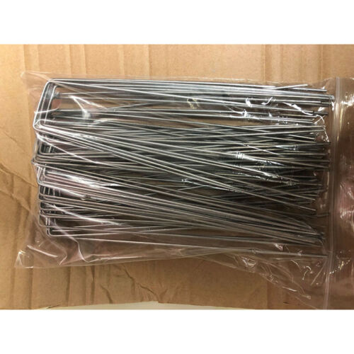 50x Pieces Camping Awning Canopy Tent U Shape Pins Pegs Stakes Ground Nails SS