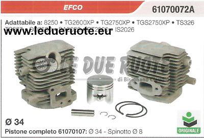 11250201213 CILINDRO E PISTONE COMPLETO MOTOSEGA STIHL 034 036 MS 360 Ø 48 mm