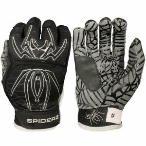 XXL Black//White Spiderz 2020 Hybrid Baseball//Softball Batting Gloves