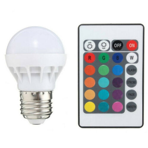 3W E27 RGB LED Birne Farbwechsel Lampe Glühbirne Licht Mit// Fernbedienung Bulb