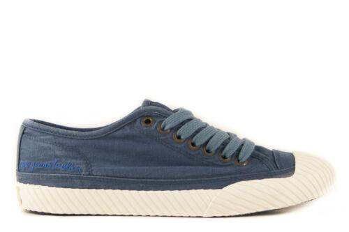 T 36//37//38 Femmes CANVAS Sneaker Bleu NOUVEAU /& NEUF dans sa boîte Pepe Jeans Saigon Low