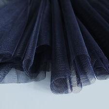 Blu Scuro Morbida Tulle Sposa Tessuto con telino 150cm ampiezza - al metro