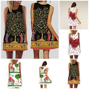 Boho-Sexy-Women-Sleeveless-Casual-Evening-Party-Cocktail-Summer-Beach-Mini-Dress