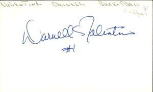 Darnell Valentine Signed Index Card 3x5 Autographed Trailblazers 61386