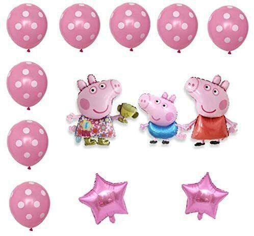 Peppa Wutz Partygeschirr Kindergeburtstag Tischdeko Ballon Party Set 10 Personen