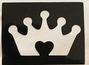 5 Princess Crown Heart In Stencils Top Up Ur Glitter Tattoo Kit Face