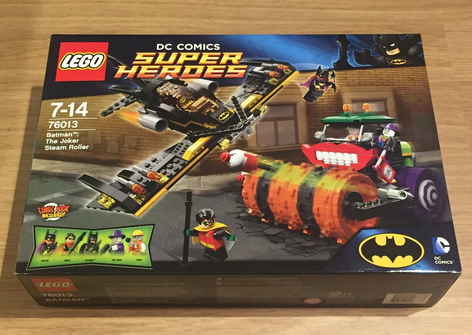 LEGO DC Comics Super Heroes Batman The Joker Steam Roller set. 76013. Brand New