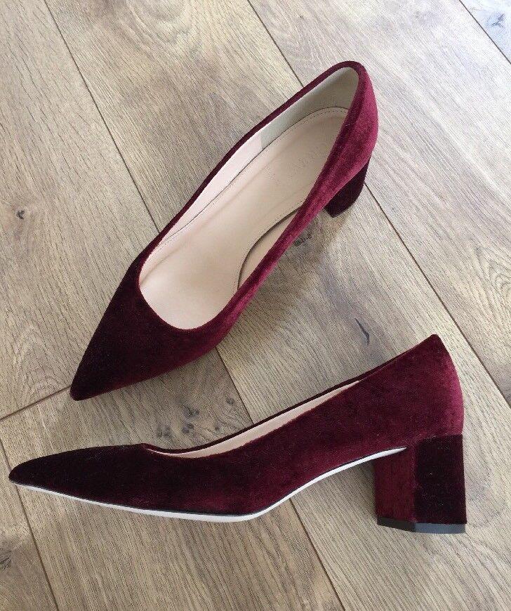 JCrew Avery Heels in Velvet schuhe  278 278 278 cabernet rot f5215 Größe 8 2afdd0