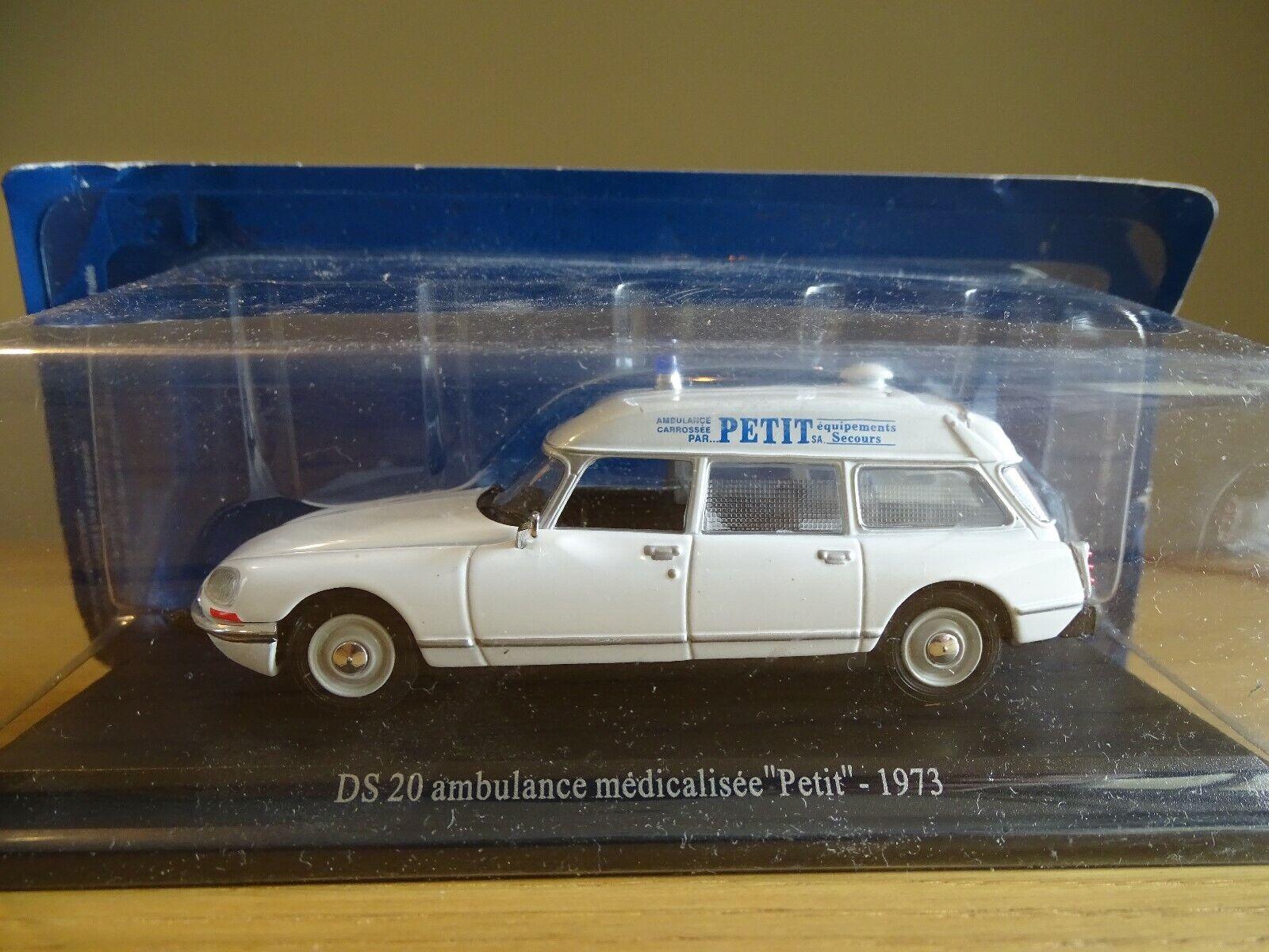 1 43 Norev Atlas Edición 6164 211 1973 Citroen Ds 20 Ambulancia Ambul. Petit