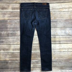 AG-Jeans-Adriano-Goldschmied-Sz-27-Stilt-Skinny-Cigarette-Leg-Medium-Blue-Wash