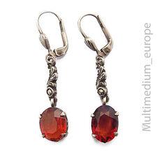 925er Sterling Silber Ohrringe Granat silver earrings garnet 925