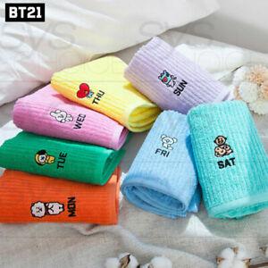 BTS-BT21-Official-Authentic-Goods-Bath-Cotton-Towel-7DAY-Ver-40-x-80cm