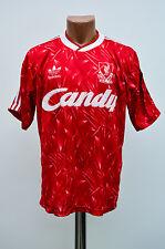 LIVERPOOL ENGLAND 1989/1990/1991 CANDY HOME FOOTBALL SHIRT JERSEY ADIDAS VINTAGE