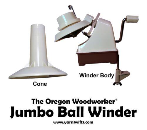Jumbo yarn ball winder Envío rápido-más fuerte Up To13 OZ the Oregon trabajador de madera
