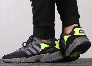Nuevo ADIDAS Originals Yung 96 Zapatillas Hombre gris Volt Todas Las Tallas