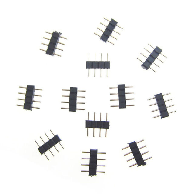 10x Best Copper Plated 4 pin RGB Connector for 3528 5050 SMD LED Strip Light ``