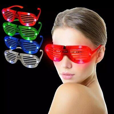 Halloween Led Otturatore Paralume Occhiali Blink Glow Elettronico Festa Super