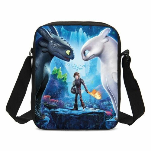 How to Train Your Dragon  Toothless Light Fury Kids School Backpack Bag Set Lot