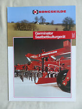 Kongskilde Germinator - Saatbettkulturgerät - Prospekt Brochure 08.1990 (0706