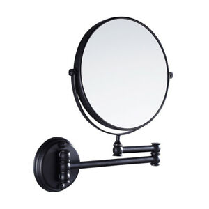 Details About Home Hotel Lighted Bathroom Wall Mounted Magnifying Makeup Mirror Black