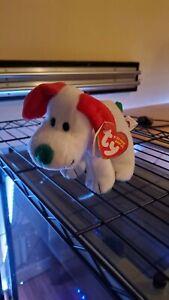 "(Rare) Ty Beanie Babies - Baby Howlidays - The Puppy Dog 6"" Christmas Plush Gift"