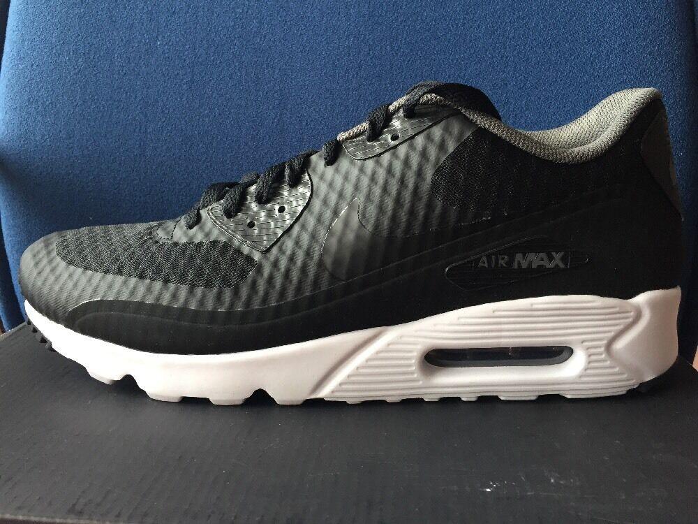 Nike Air Max 90 Ultra Essential Sz 11.5 Black White Dark Grey shoes 819474-013