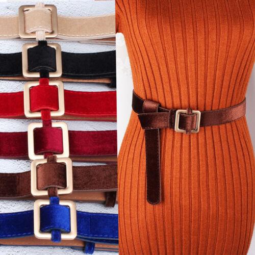 Metal Buckled Waist Belt Women/'s Dress Velvet Sweater Waistbelt Casual Waistband