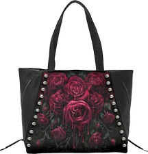BLOOD ROSE Tote Bag Top quality PU Leather Studded |Blood |Gothic |Roses