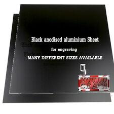 15mm Anodised Aluminium In Black Sheets Laser Safe For Crafts Models Diy