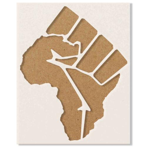 Black Lives Matter Raised Fist  Stencil BLM