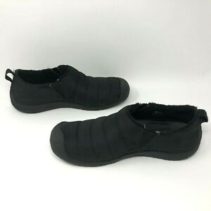 Keen-Howser-II-Womens-Shoes-Black-Quilted-Slip-On-Slippers-Size-10