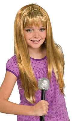 Rock Diva Wig Hannah Montana Pop Star Dress Halloween Child Costume Accessory