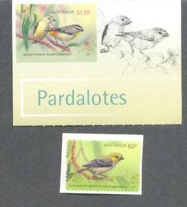 Australia-Pardalotes self-adhesive set mnh-3996-7 (2013) Birds