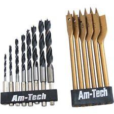 Am-tech Hex Shank Wood Drill Set (14 Pieces)
