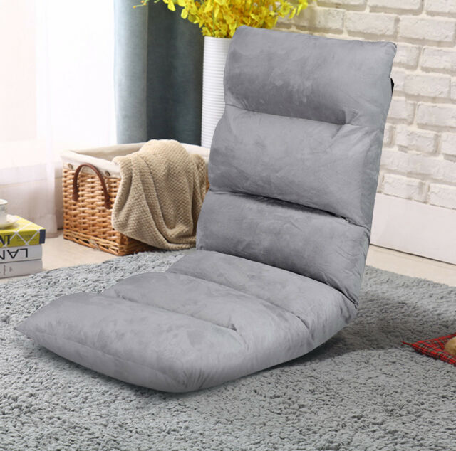 Home Floor Chair Adjustable Lazy Sofa Chair Gaming Reading Seat Foam  Cushioned