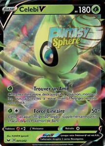 Carte Pokemon Neuve Française Celebi V 001//202 EB01:Épée et Bouclier