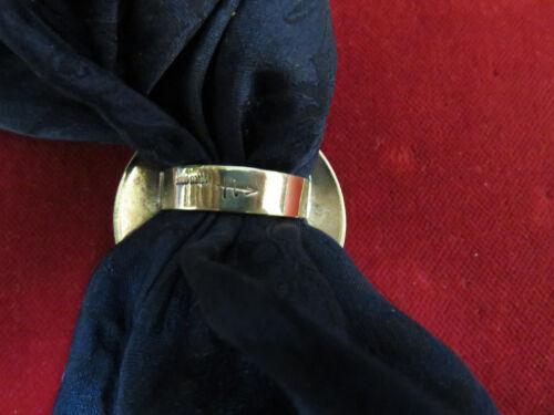 Wild Rag Slide Shady Milts Silk Garter Virginia City brass Scarf Slide