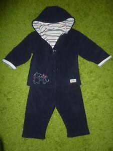 Wie Neu Dunkelblau Jacke Und Hose Einfach Tchibo Tcm Baby Fleece-anzug Gr.74/80 Fb