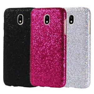 quality design 6a7ab 438f5 Details about For samsung J3 J5 J7 J530 J7pro 2017 Bling Sparkle PU Coated  Hard case cover