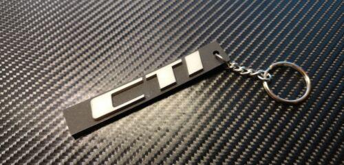 Silver Peugeot 205 CTI Keyrings Rear Badge Style