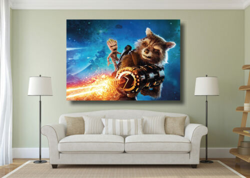 Guardians Of The Galaxy 2 Movie Baby Groot Rocket Poster Large Wall Art Print