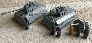 Pièces Lego d'origine - Micro 2 Panther Tank 1 Cannon 7 Soldiers My Design