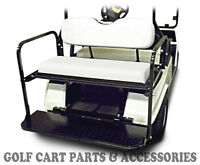Ezgo Txt Flip Seat Kit (1994 -2013) White Seat Cushions Rear Back Seat