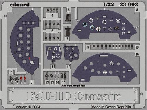 Eduard Zoom 33003 1//32 Trumpeter Vought F4U-1 Corsair instrument panel