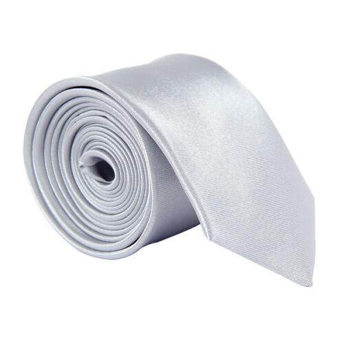 Classic Skinny Men/'s Slim Tie Solid Color Plain Silk Jacquard Woven Necktie ##