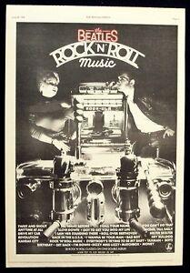 THE BEATLES 1976 Poster Ad ROCK 'N' ROLL MUSIC rock-ola   eBay