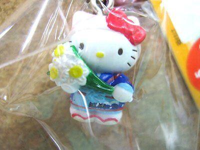 Sanrio Hello Kitty FUKUI Netsuke Charm Mascot Cell Phone Strap Japan New
