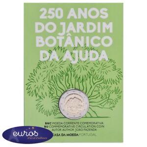 Piece-2-euros-commemorative-PORTUGAL-2018-Jardin-Botanique-Brillant-Universel