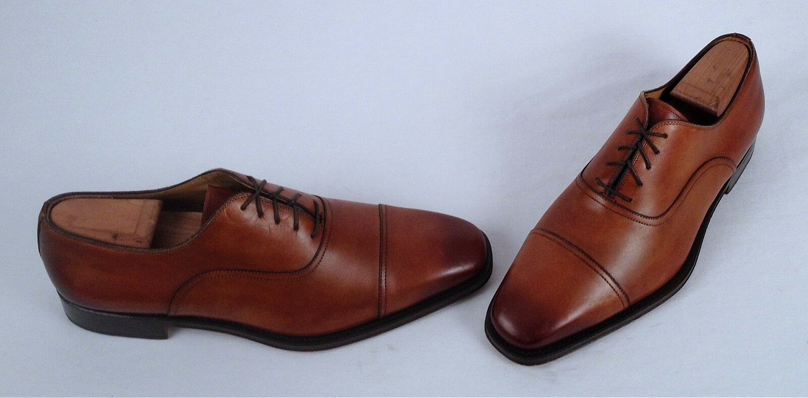 Magnanni 'Bonete' Cap Toe Oxford - Cognac- Size 9.5 M  Labeled 9 M   (M2)