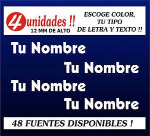 PEGATINAS-PERSONALIZABLES-4-UNIDADES-Tu-Nombre-o-texto-ESCOGE-TIPO-DE-LETRA